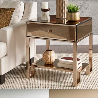 Charming Akiko Mirrored 1 Drawer End Table By INSPIRE Q Bold