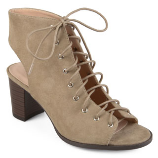 Journee Collection Women's 'Posey' Lace-up Faux Suede High Heel Booties (More options available)