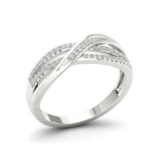Sterling Silver 1/6ct TDW Diamond Fashion Ring