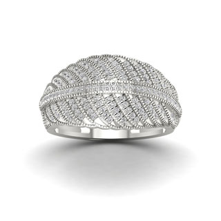 S925 Sterling Silver 2/5ct TDW Diamond Fashion Ring