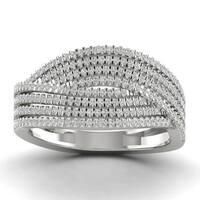 Sterling Silver 1/2ct TDW Diamond Fashion Ring