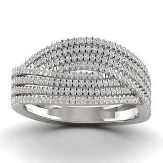 Sterling Silver 1/2ct TDW Diamond Fashion Ring
