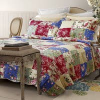 Qbedding Rosalyn 100-percent Cotton Quilt Set