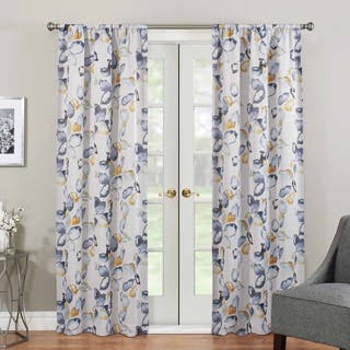 Eclipse Paige Thermaweave Room Darkening Window Curtain Panel Option Yellow