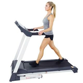 Sunny Health & Fitness SF-T7515 Smart Treadmill with Auto Incline, Bluetooth and BMI Calculator