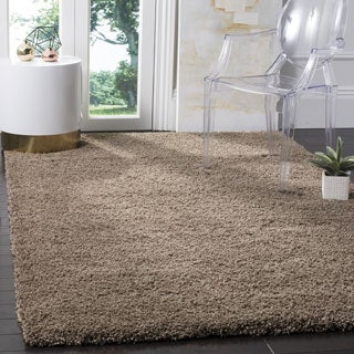 Safavieh California Cozy Plush Taupe Shag Rug (8'6 Square)