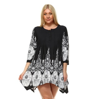 White Mark Women's Plus Size 'Dulce' Tunic/Top