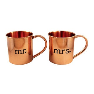 Alchemade Mr. and Mrs. Copper Mugs (Set of 2)