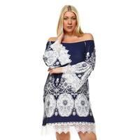 White Mark Women's Mya Plus-size Dress