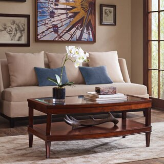 """Madison Park Signature Dunkin Moroccan Brown Coffee Table - 42"""" x 28 x 18"""""""