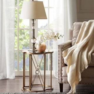 Madison Park Grayson Antique Bronze Accent Table