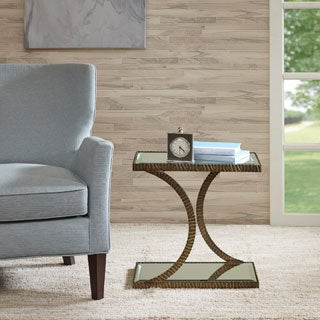 Madison Park Kylie Antique Bronze Accent Table