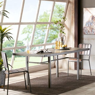 INK+IVY Cody Light Grey/ Black Dining Table