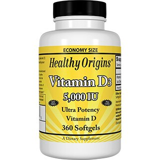 Healthy Origins Vitamin D3 5,000 IU (360 Softgels)