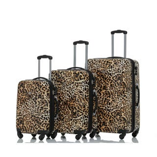 Rivolite Leopard 3-Piece Expandable Hardside Spinner Luggage Set