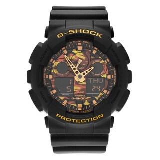 Casio Men's GA100CF-1A9 'G-Shock' Black Analog Digital Camouflage Dial Resin Strap Watch