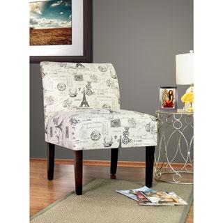 SAMANTHA French Stamp Onyx - Espresso Leg - Accent Chair by MJL Furniture Designs