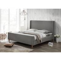 Bedford Grey Upholstered King Platform Bed