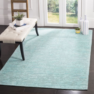Safavieh Hand-Woven Marbella Flatweave Blue / Turquoise Chenille Rug (4' x 6')