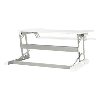 10-inch Height Adjustable Multi-position White Desk Riser