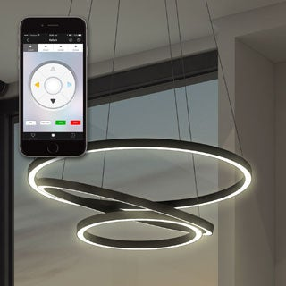 Tania Trio VTC3331BL 31.5-inch WiFi-enabled Tunable-white Color-changeable LED Chandelier from Vision by VONN Series