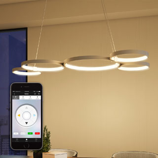 Capella VTC3555AL 31.5-inch WiFi-enabled Tunable White Color-changeable LED Chandelier from the Vision by VONN Series