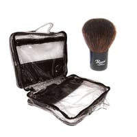 Medium Transparent Cosmetic Case with Kabuki Brush