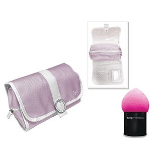 Rucci Hanging and Detachable Cosmetic Bag with Pink Contour Blender Sponge