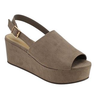 BAMBOO EF85 Women's Slingback Ankle Strap Platform Wedge Sandals