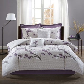 Copper Grove Burwell Purple 8-piece Comforter Set