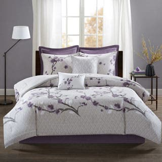 purple bedroom sets. Madison Park Isabella Purple 8 Piece Cotton Comforter Set Sets For Less  Overstock com