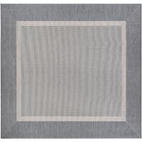 Couristan Recife Stria Texture Champagne-Grey Indoor/Outdoor Square Rug - 7'6 x 7'6