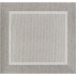 Couristan Recife Stria Texture/Champagne Taupe Area Rug (8'6 Square)