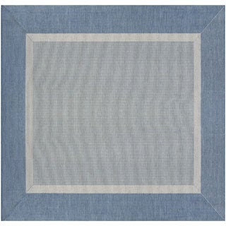 Couristan Recife Stria Texture/Champagne-blue Square Area Rug (8'6 x 8'6)