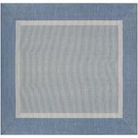 """Couristan Recife Stria Texture/Champagne-blue Square Area Rug - 8'6"""" x 8'6"""""""