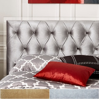Anya Full-size Velvet Button Tufted Acrylic Headboard and Bed by iNSPIRE Q Bold
