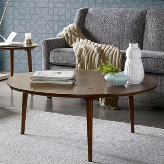 Madison Park Wagner Pecan Round Coffee Table