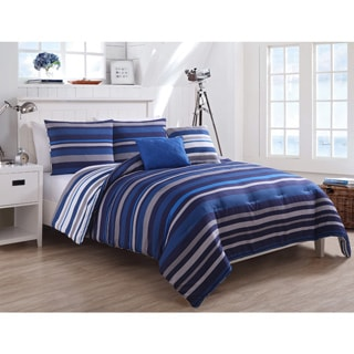 VCNY Home Justin Stripe 5-piece Comforter Set