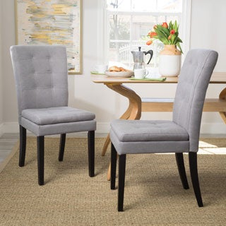 Kailah Tufted Fabric Dining Chair by Christopher Knight Home (Set of 2)