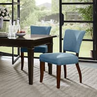 "Madison Park Parler Blue Dining Chair (Set of 2) - 21""w x 26.5""d x 35.5""h"