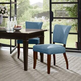 Madison Park Parler Blue Dining Chair (Set of 2)