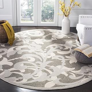 Safavieh Amherst Indoor / Outdoor Grey / Light Grey Rug (7' Round)