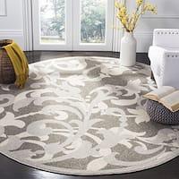 Safavieh Amherst Indoor / Outdoor Grey / Light Grey Rug - 7' Round