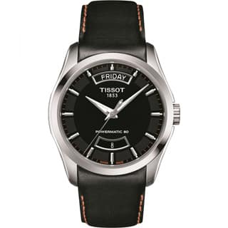 Tissot Couturier Men's Powermatic 80 Black Leather Watch|https://ak1.ostkcdn.com/images/products/P21139143p.jpg?impolicy=medium