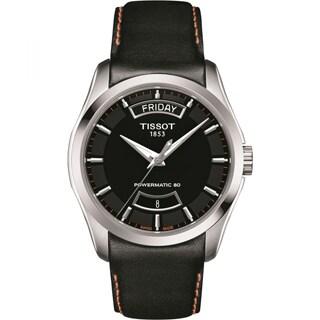 Tissot Couturier Men's Powermatic 80 Black Leather Watch