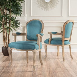 Paxton Fabric Arm Chair (Set of 2) by Christopher Knight Home