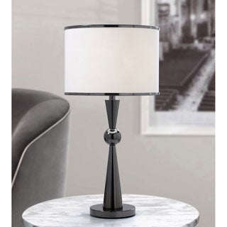 HomeTREND Dione Black Metal Modern Table Lamp