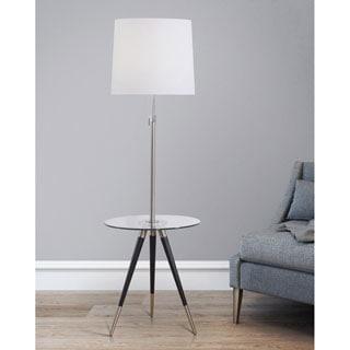 HomeTREND Premier Tripod Glass Table Floor Lamp