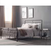 Carbon Loft Meitner Vintage Charcoal Queen-sized Metal Bed