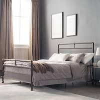 Corvus Lorraine Vintage Style Steel Bed with Mesh Accents in Bronze